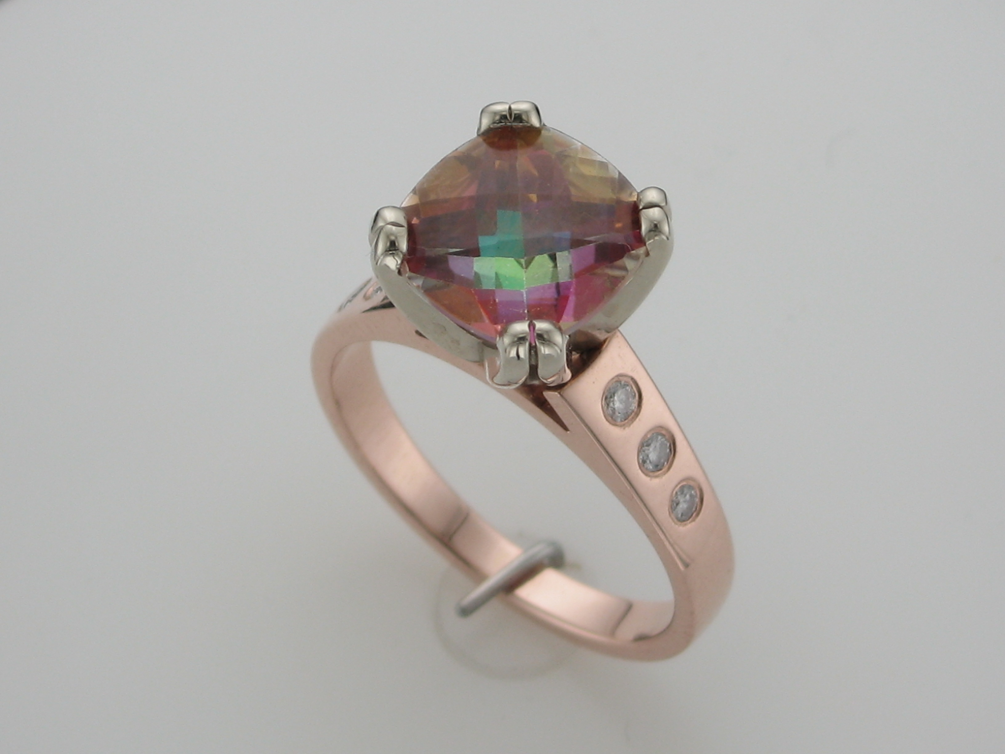 Mystic Topaz in Rose Gold