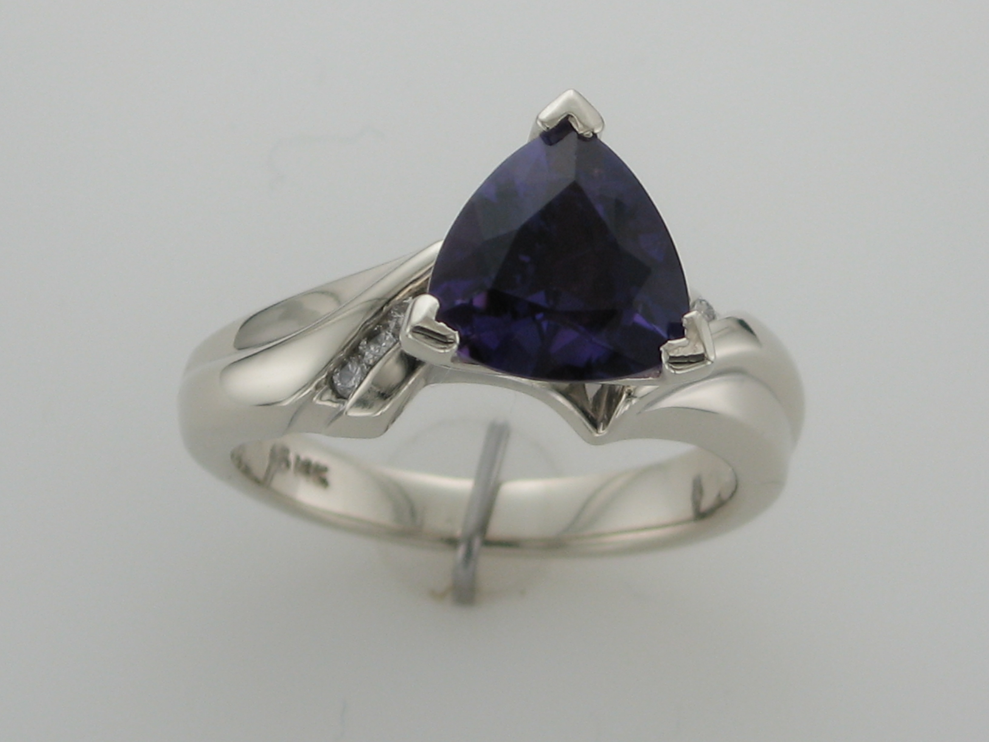 Amethyst & Diamond Ring