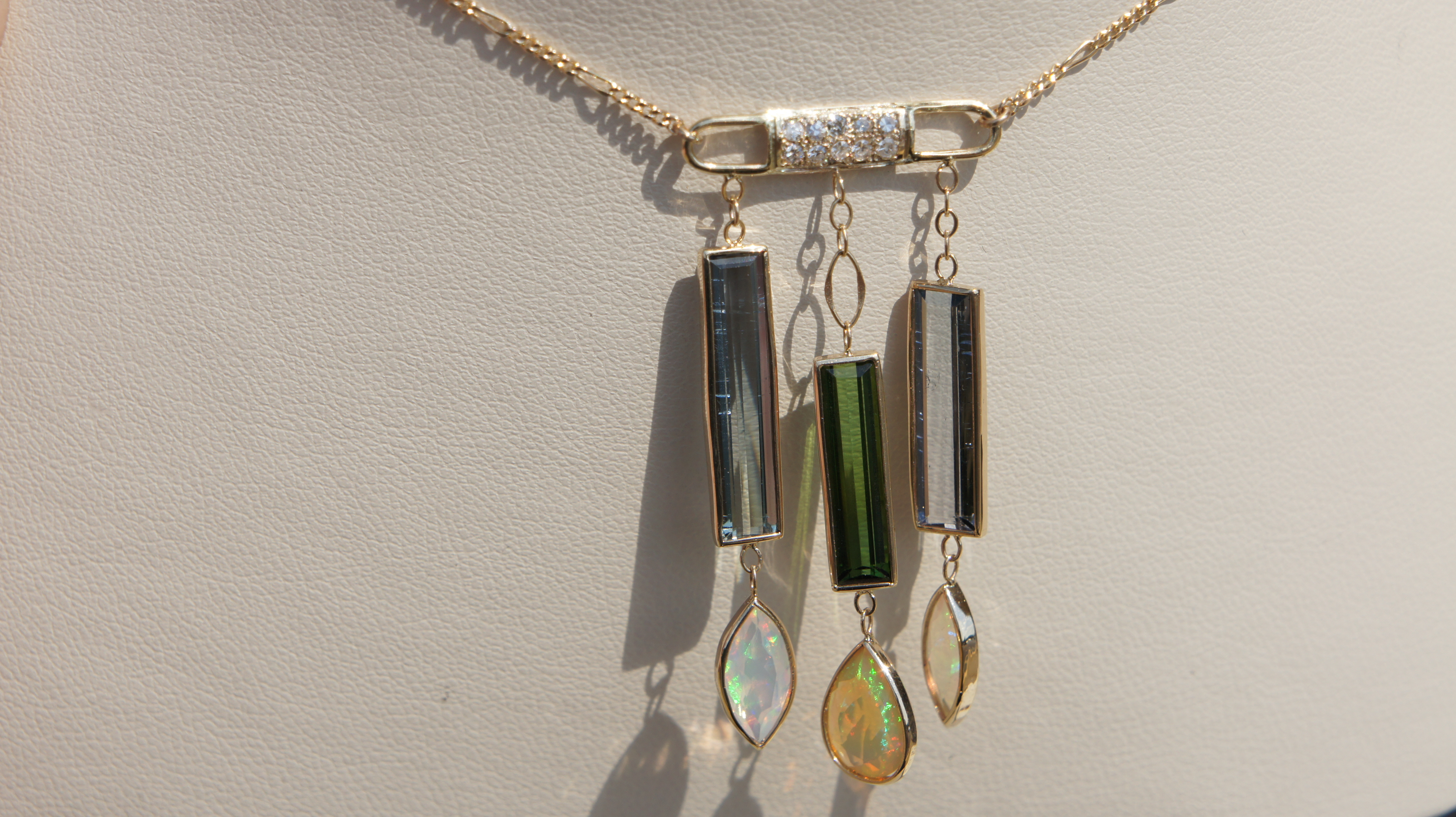 Opal & Tourmaline Dangles
