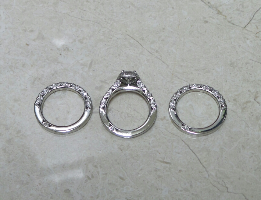 Platinum Eng Ring & Wedding Bands