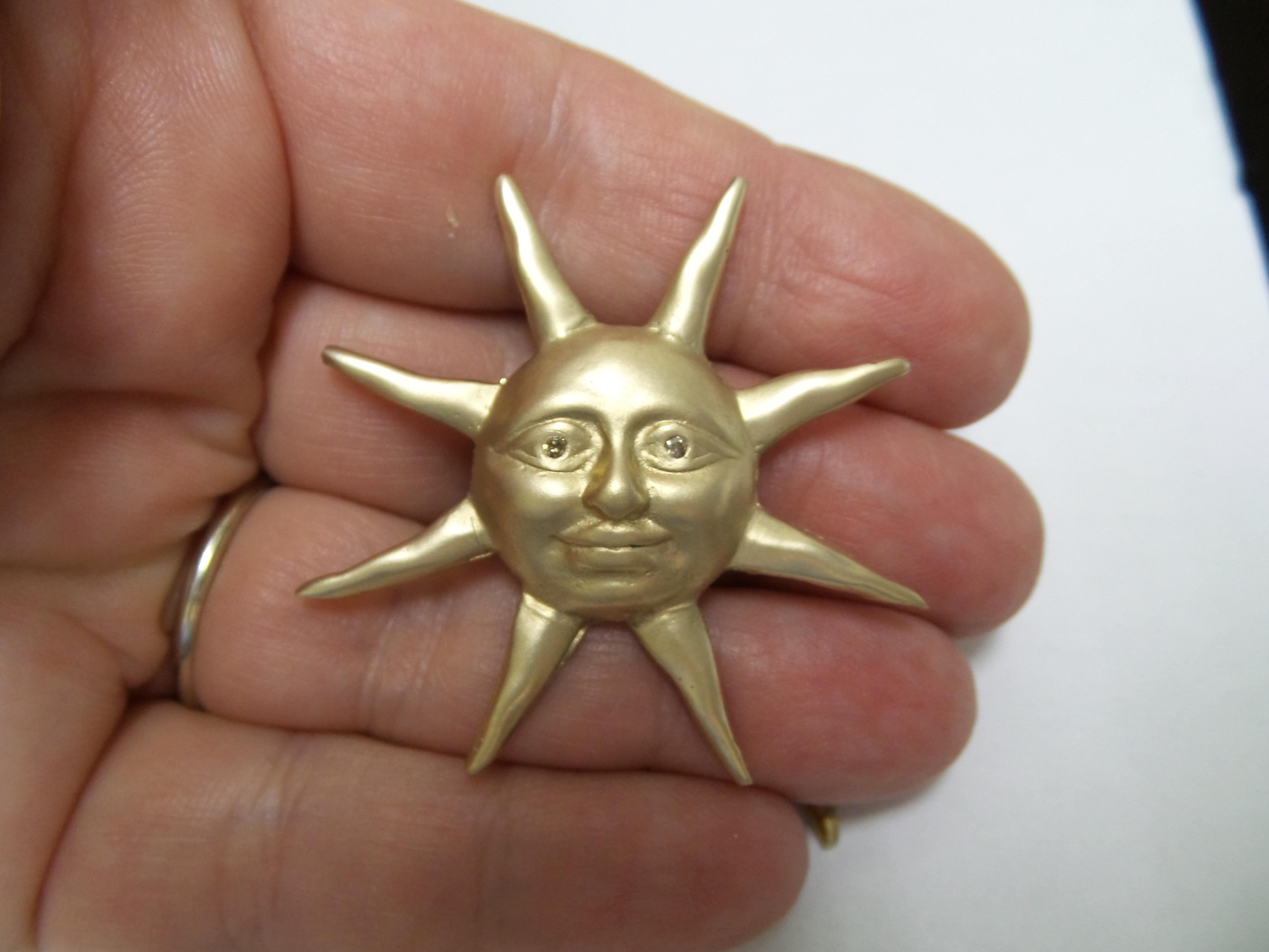 14kt & Diamond Sun Pendant