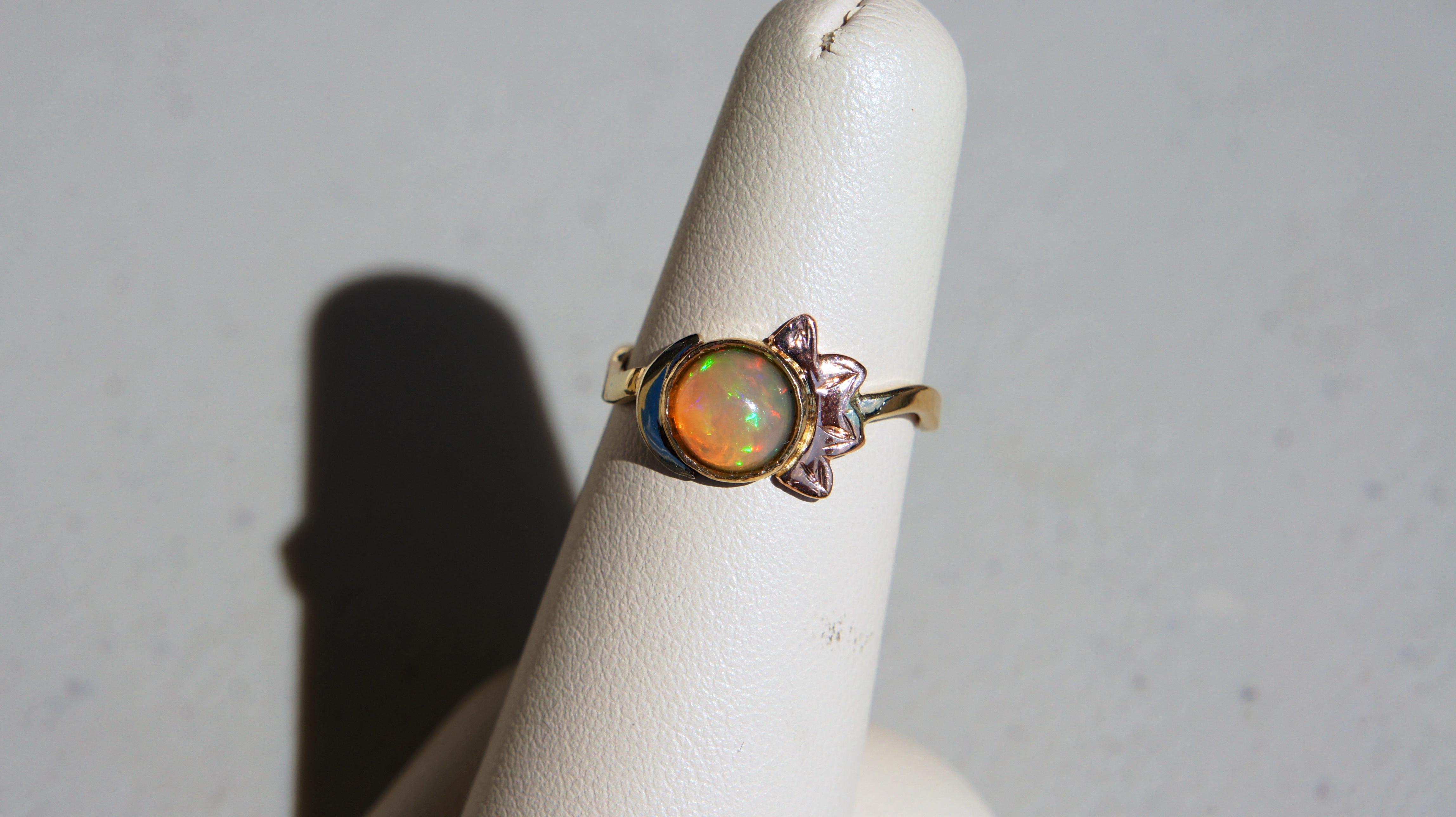 Opal with Sun & Moon
