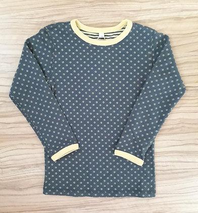 Wende-T-Shirt gelb/grau