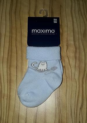 Socken Katze hellblau