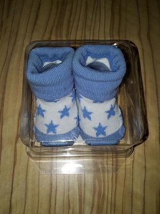 Socken Stern hellblau