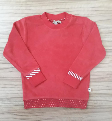 Pullover rot-weiss