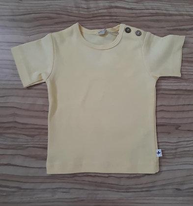 Shirt kurzarm gelb
