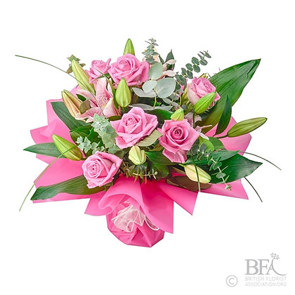 Classic Pink Rose & Lily