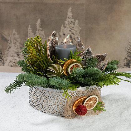 Grey Candle arrangement