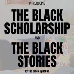Introducing The Black Scholarship + The Black Stories Reading Challenge