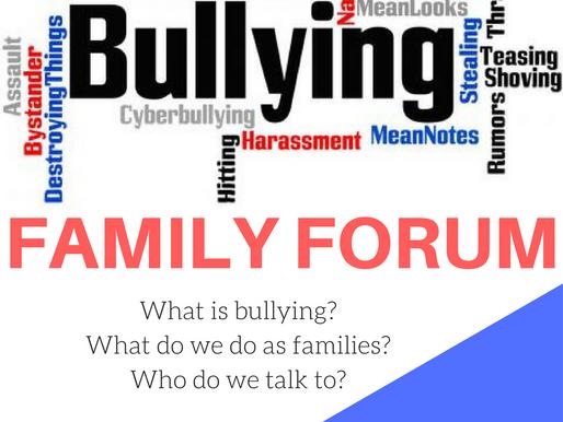 Bullying Family Forum