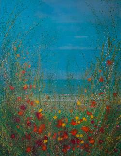Flores fente al mar, 100 x 70