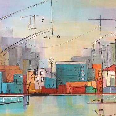 SOLD_Puerto Madero en Color,60 x 70