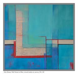 Wall street in blue, 80 x 80