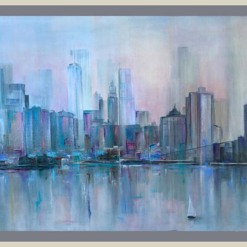 Crazy NY. 80 x 110 cm