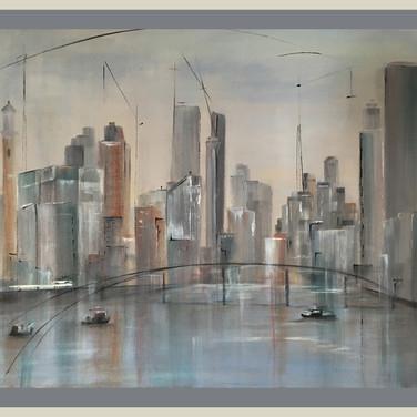 Southwark Bridge, London, 50 x 60 cm  SOLD