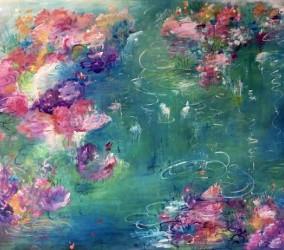 Remolino de Flores, mixed media, 100 x 130