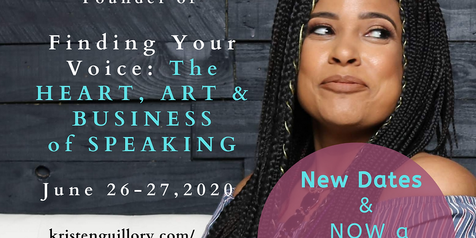 Finding Your Voice: The Heart, Art and Business of Speaking™