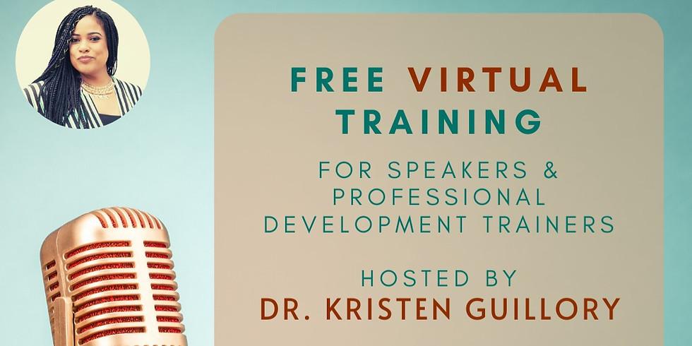 FREE Speaker training