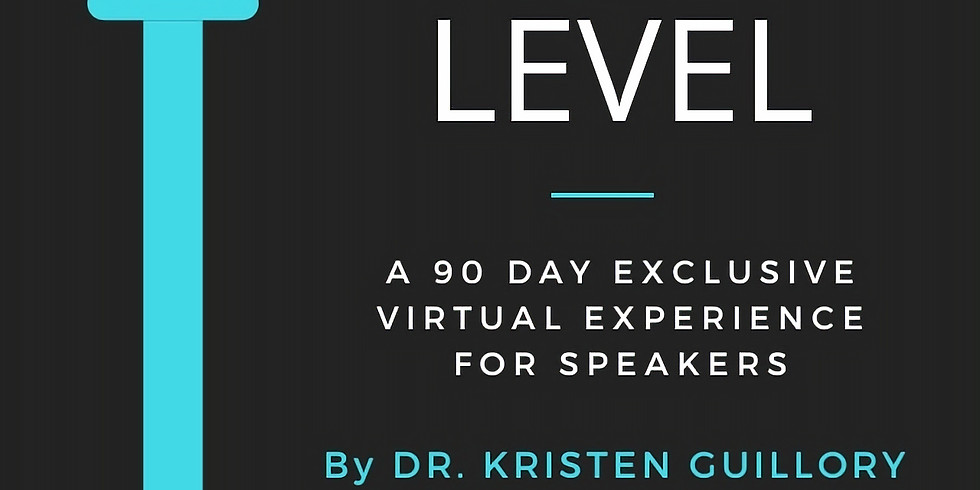 Next Level: Exclusive 90 Day Virtual Experience for Speakers!