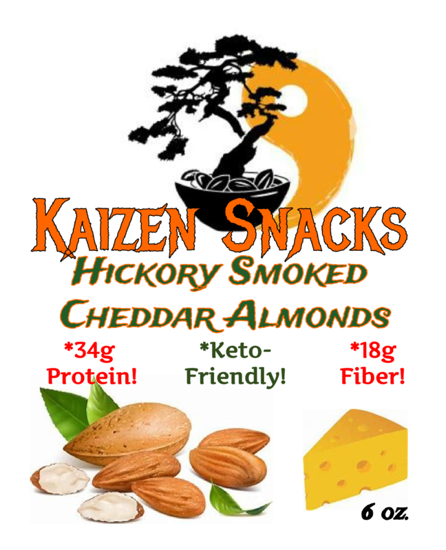 Hickory Smoked Cheddar Almonds