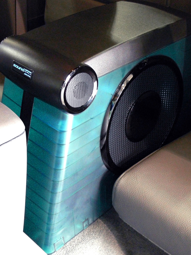 Soundbox subwoofer assembly