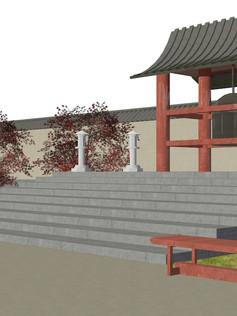 Japanese Architecture (Digital Rendering)