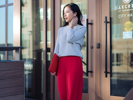 Go Boldly: How to Wear Red Pants