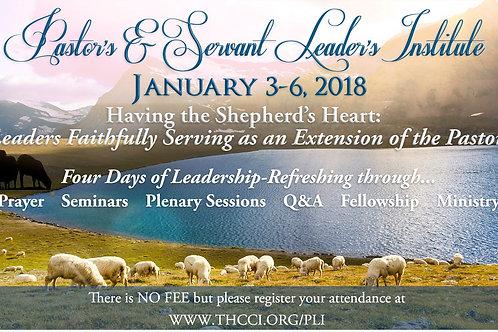 2018 Pastor's & Servant Leader's Institute