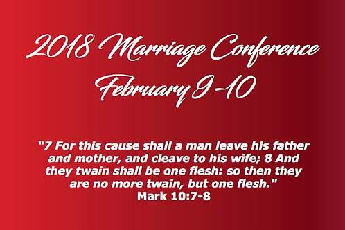 2018 Marriage Conference