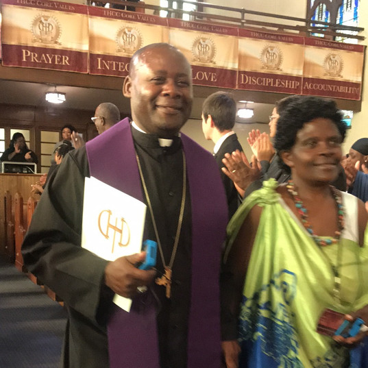 2017 ICA Bishop & Lady Nshimiyimana entering the Assembly