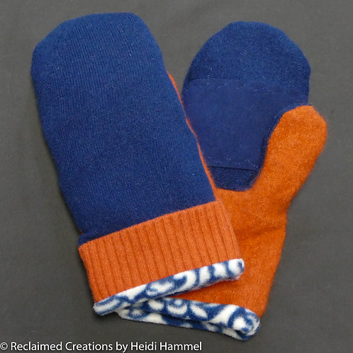 Cashmere Mittens with Leather Palm