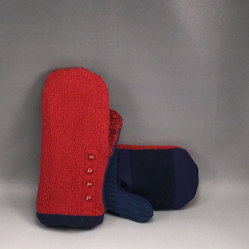 Mittens with Leather Palm