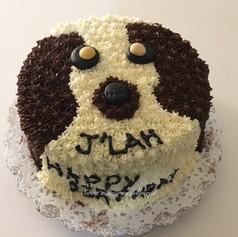 Dog theme cake
