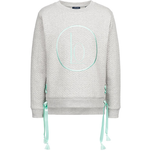 Sweater with lacing