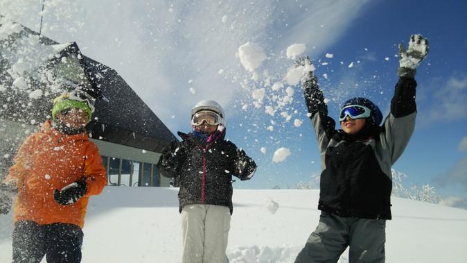 雪山は楽しいよ!