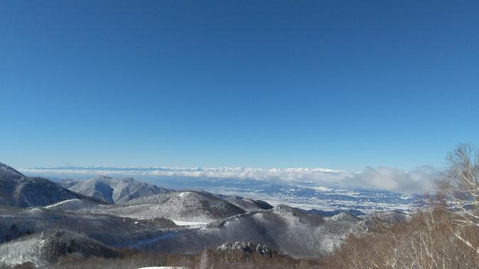 晴天、雪サラサラ、三密無し  2021年1月20日