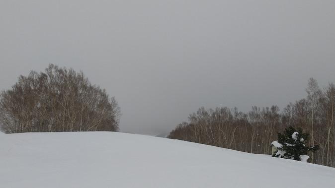 雪、曇り、ガスーーー 2021年1月22日