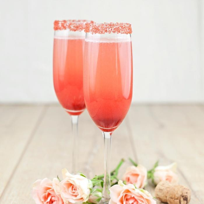 Champagne cocktail at Mothers Day HIgh Tea