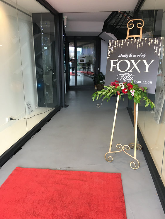 red carpet event entrance 50th birthday christchurch hire and styling.JPG