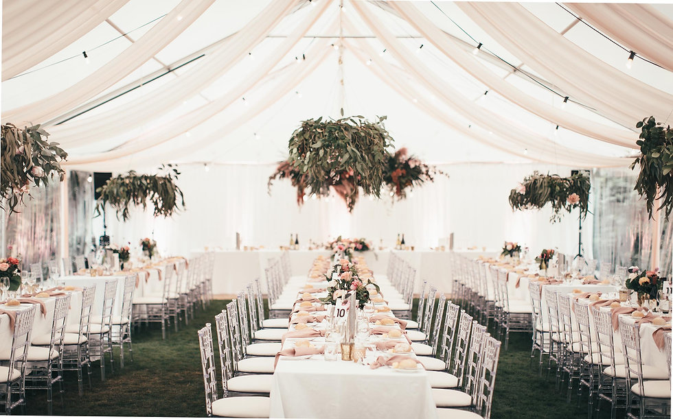 Blush Marquee & florals by The Event Bou