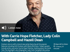 Lady Colin Campbell was a guest on Graham Norton Radio 2 show, Saturday 10th October.