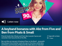 Ben Ofoedu & Abz from BOYZ ON BLOCK were on Fearne Cotton's 'Sounds of the 90's' show.
