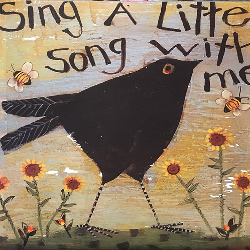 """Sing a Little Song"" on Linen"