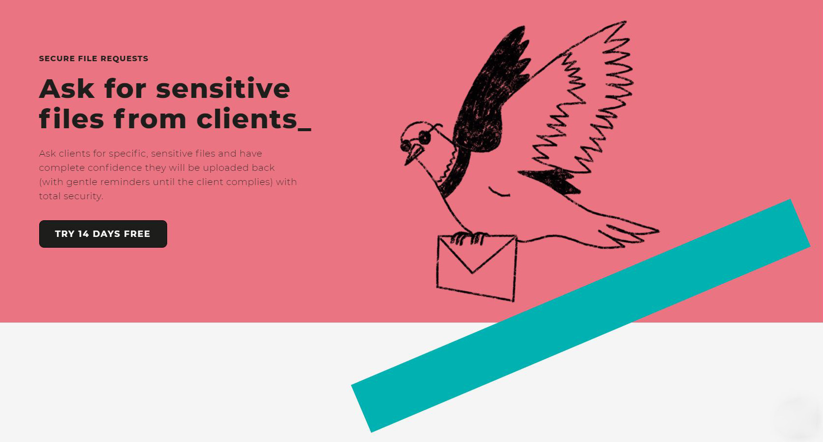 Ask for sensitive files from clients