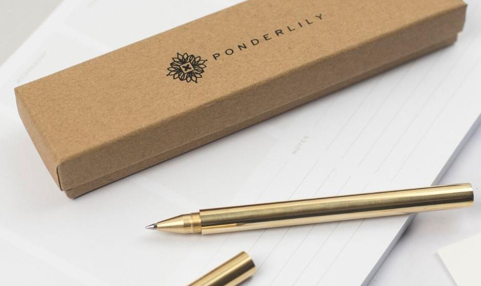 Ponderlily® Brass Pen