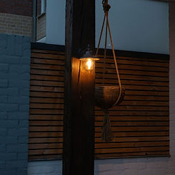 Romantic outdoor wall lamp dark gray - O