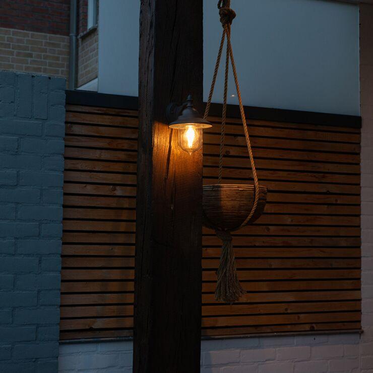 Romantic outdoor wall lamp dark gray