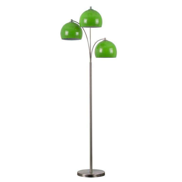 DANTZIG SATIN NICKEL 3 ARM FLOOR LAMP