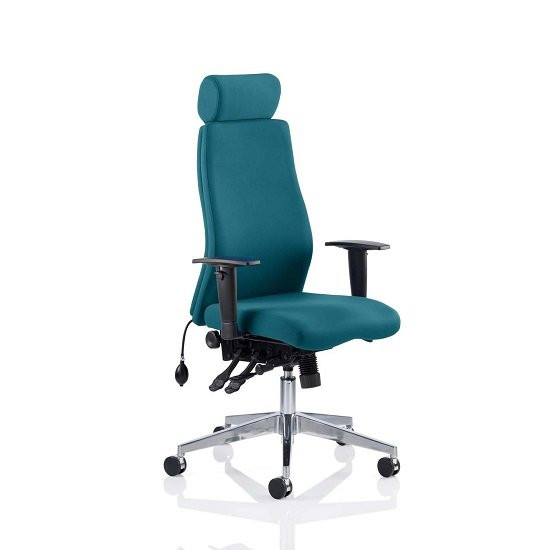 Penza Office Chair In Maringa Teal